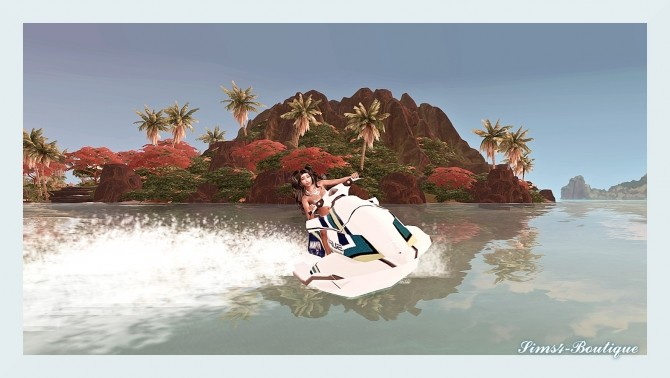 Sims 4 Yamaha Jetski at Sims4 Boutique
