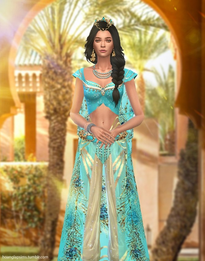 Princess Jasmine full body outfit and crown at HoangLap's Sims image 1823 670x852 Sims 4 Updates