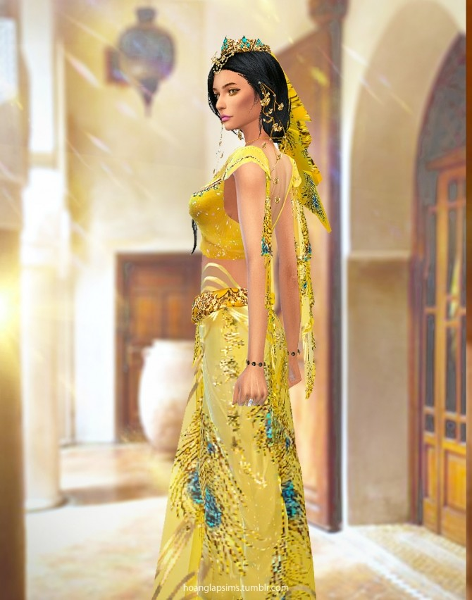 Princess Jasmine full body outfit and crown at HoangLap's Sims image 1843 670x852 Sims 4 Updates