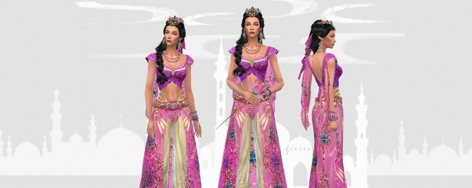 Princess Jasmine full body outfit and crown at HoangLap's Sims image 1853 670x268 Sims 4 Updates