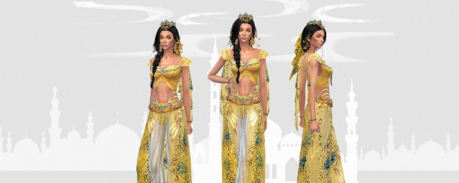 Princess Jasmine full body outfit and crown at HoangLap's Sims image 1863 670x268 Sims 4 Updates