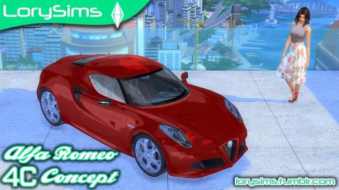 Alfa Romeo 4C Concept at LorySims image 1895 670x377 Sims 4 Updates
