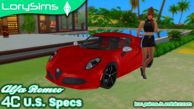 Alfa Romeo 4C U.S. Specs at LorySims image 1935 670x377 Sims 4 Updates