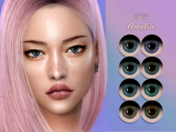 Sims 4 Amelia eyes by ANGISSI at TSR