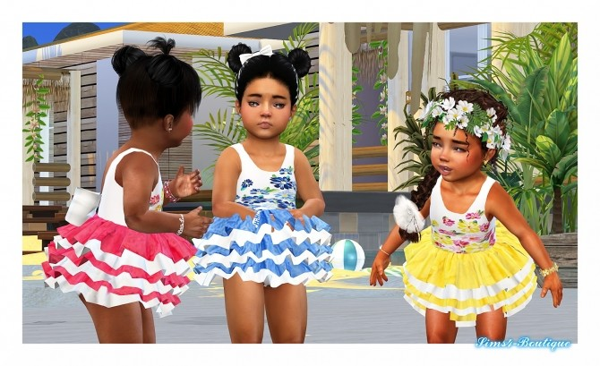 Sims 4 Romantic Designer Dress for little Girls at Sims4 Boutique