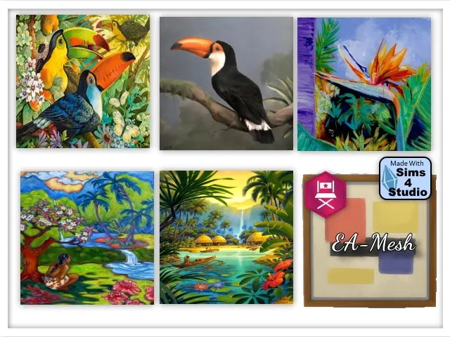 Island in the Sun paintings by Oldbox at All 4 Sims image 195 Sims 4 Updates