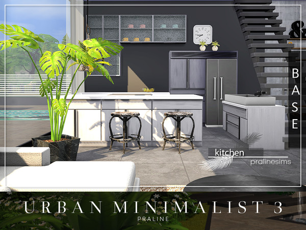 Sims 4 Urban Minimalist 3 house by Pralinesims at TSR