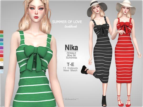 Sims 4 NIKA Sundress by Helsoseira at TSR