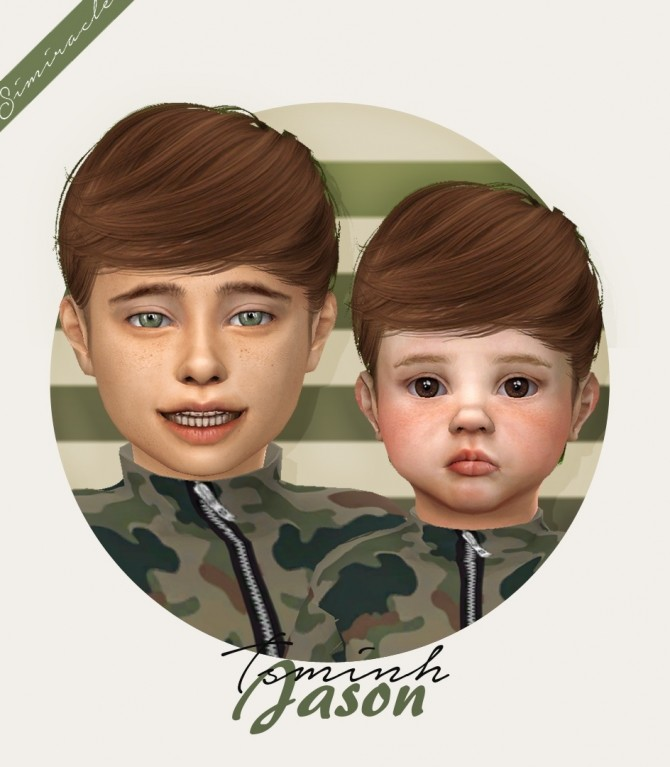 Sims 4 Tsminh Sims Jason hair for kids and toddlers at Simiracle