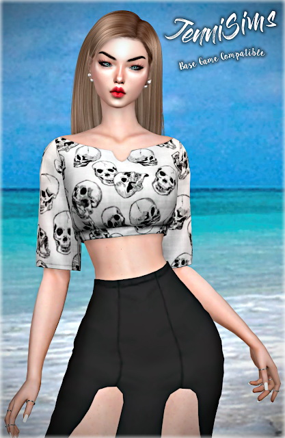 Sims 4 Top Base Game Compatible 15 designs at Jenni Sims