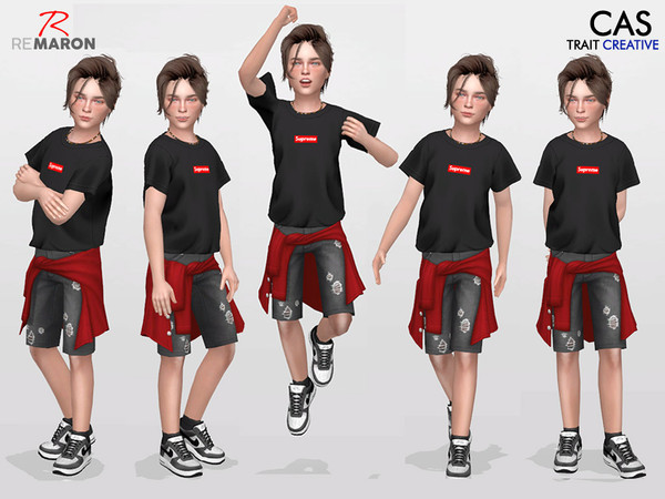 Sims 4 CAS Pose for Kids Set 1 by remaron at TSR