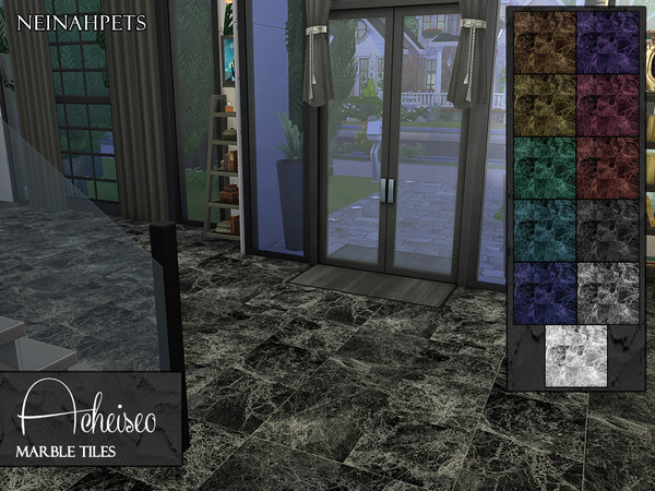 Acheiseo Marble Tile Floors by neinahpets at TSR image 2111 Sims 4 Updates
