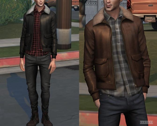 Shearling Collar Jacket P At Darte77 187 Sims 4 Updates