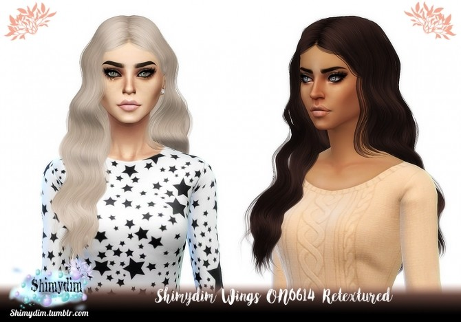 Sims 4 Wings ON0614 Hair Retexture Naturals + Unnaturals at Shimydim Sims