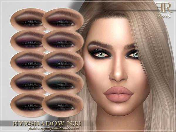 Sims 4 FRS Eyeshadow N33 by FashionRoyaltySims at TSR