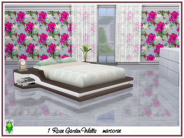 Rose Garden Walls by marcorse at TSR image 2156 Sims 4 Updates