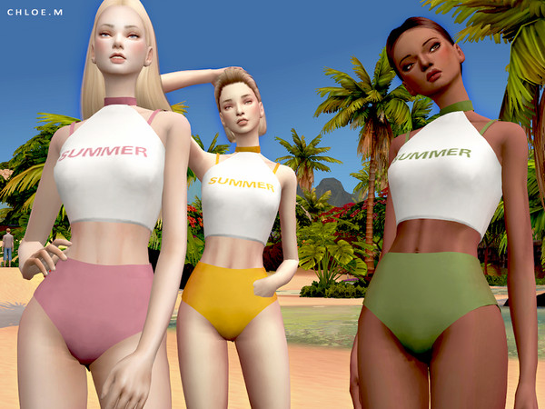 Sims 4 Swimsuit FM by ChloeMMM at TSR