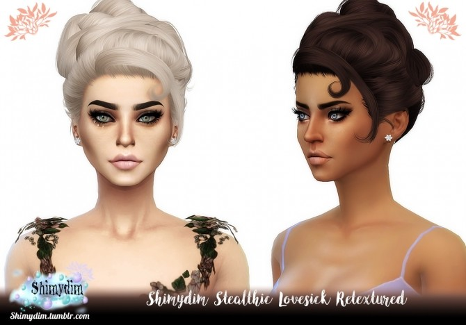 Sims 4 Stealthic Lovesick Hair Retexture Naturals + Unnaturals at Shimydim Sims