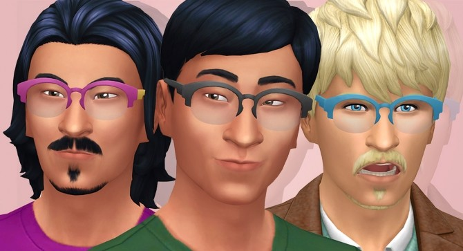 GP07 Arched Semi Rimless Glasses Clear Lens at Tamo image 2172 670x363 Sims 4 Updates