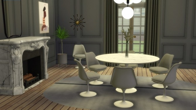 TULIP CHAIR UPHOLSTERED at Meinkatz Creations image 2173 670x377 Sims 4 Updates