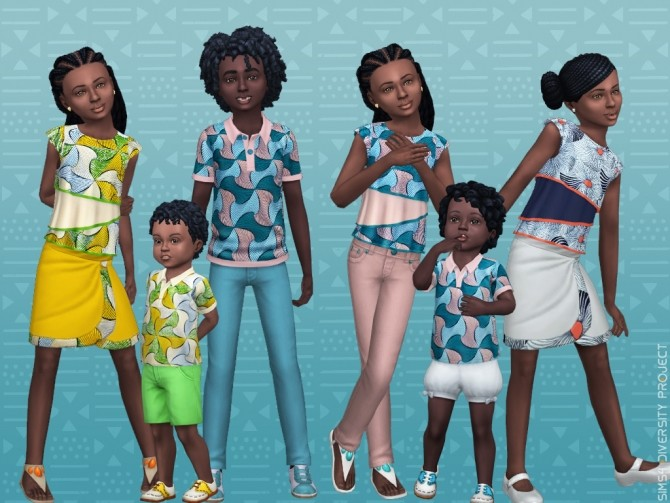 Child Toddler African Summer set at Sims 4 Diversity Project image 2185 670x503 Sims 4 Updates