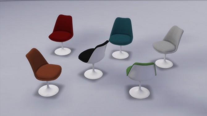 TULIP CHAIR UPHOLSTERED at Meinkatz Creations image 2193 670x377 Sims 4 Updates
