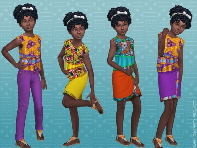 Child Toddler African Summer set at Sims 4 Diversity Project image 2204 670x503 Sims 4 Updates