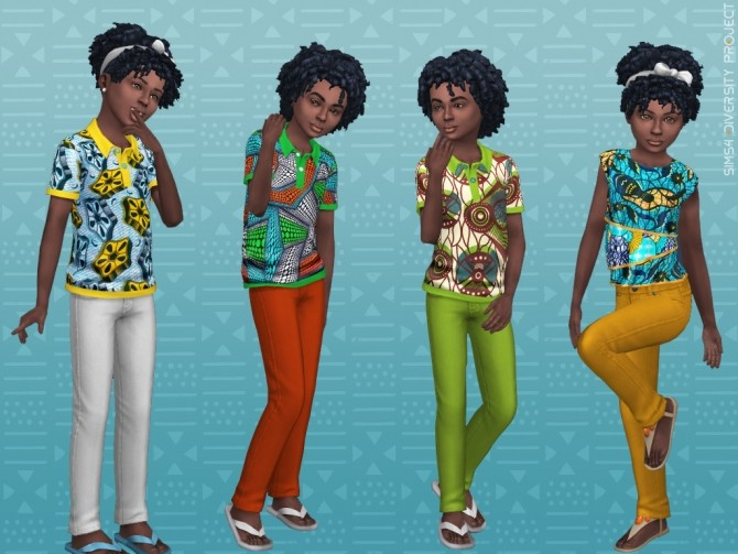 Child Toddler African Summer set at Sims 4 Diversity Project image 22111 670x503 Sims 4 Updates
