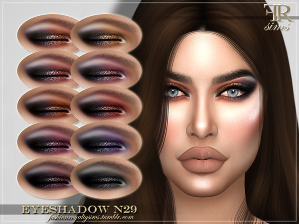 Sims 4 FRS Eyeshadow N29 by FashionRoyaltySims at TSR