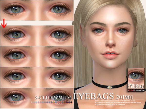 Skin Details Eyebags 201901 by S Club WM at TSR image 2237 Sims 4 Updates