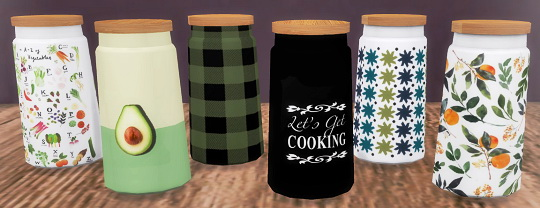 Sims 4 Old TV + Kitchen Jars at Descargas Sims
