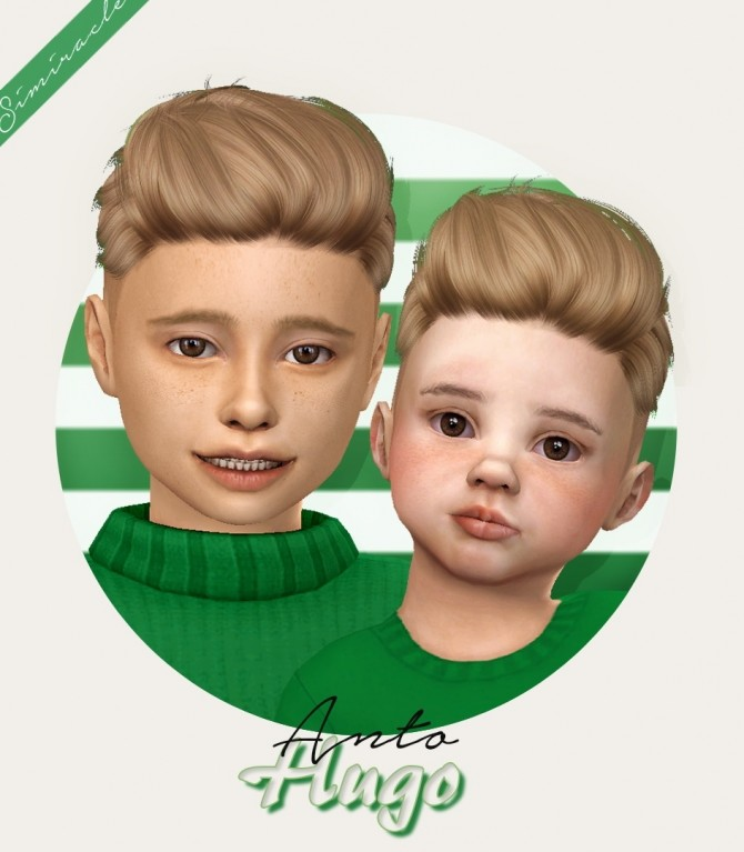 Sims 4 Anto Hugo hair for kids and toddlers at Simiracle