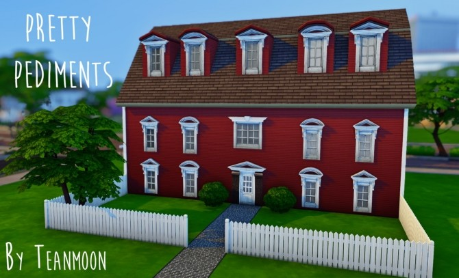 Sims 4 Pretty Pediments Revamped at Teanmoon