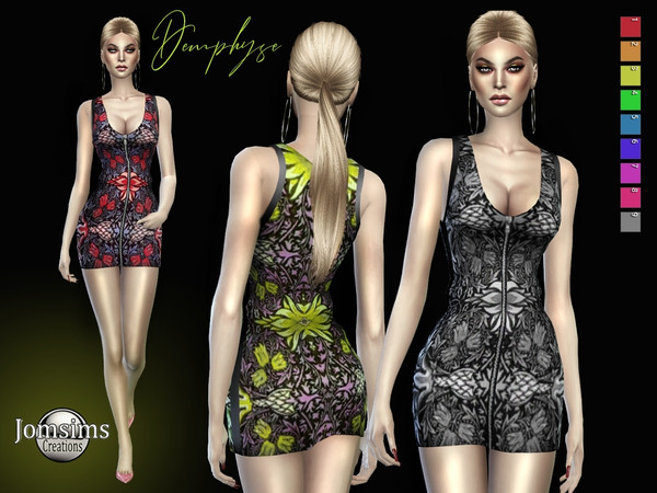 Sims 4 Demphyse dress by jomsims at TSR