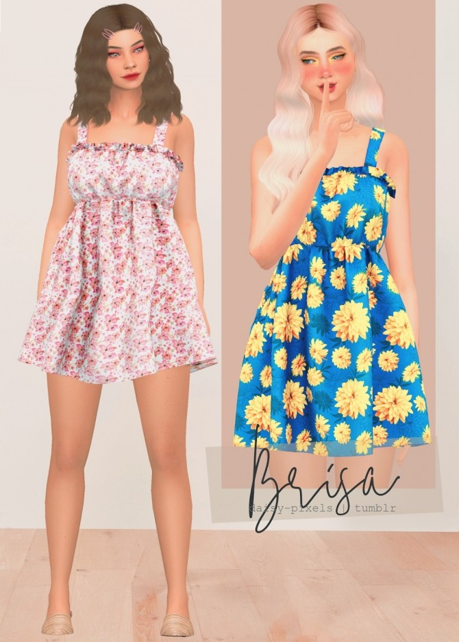 Brisa dress at Daisy Pixels image 2322 670x937 Sims 4 Updates