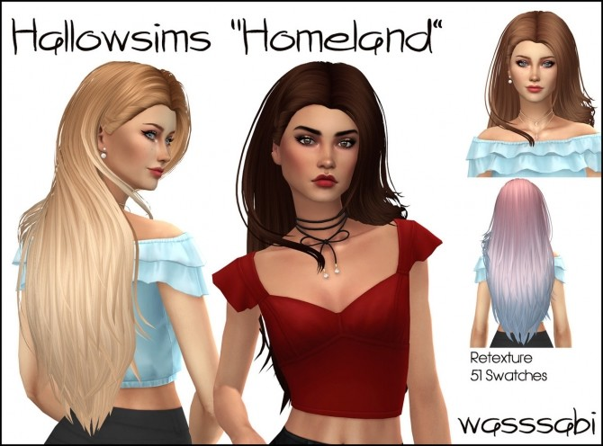 Hallowsims/ Newsea Homeland hair retextured at Wasssabi Sims image 233 670x496 Sims 4 Updates