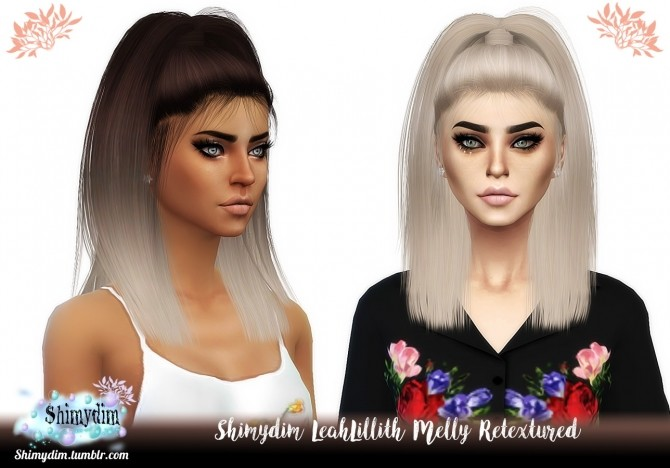 Sims 4 LeahLillith Melly Hair Retexture Ombre + Child Naturals + Unnaturals at Shimydim Sims