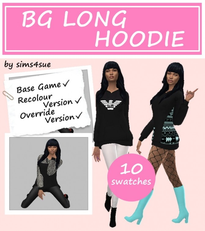 BG LONG HOODIES at Sims4Sue image 2354 670x754 Sims 4 Updates