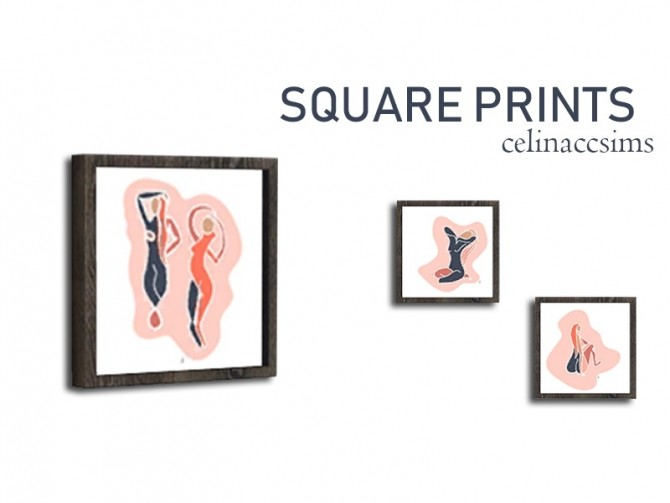 SQUARE PRINTS at Celinaccsims image 24111 670x503 Sims 4 Updates