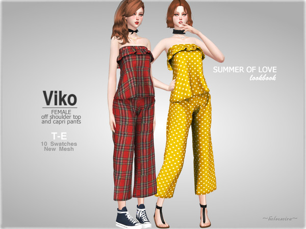 Sims 4 VIKO Outfit by Helsoseira at TSR