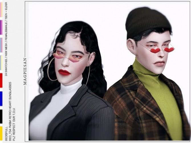 FM&M retro heart sunglasses at Bedisfull – iridescent image 247 670x503 Sims 4 Updates