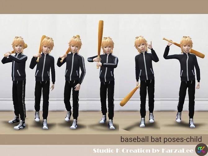 Baseball bat & poses at Studio K Creation image 2482 670x502 Sims 4 Updates