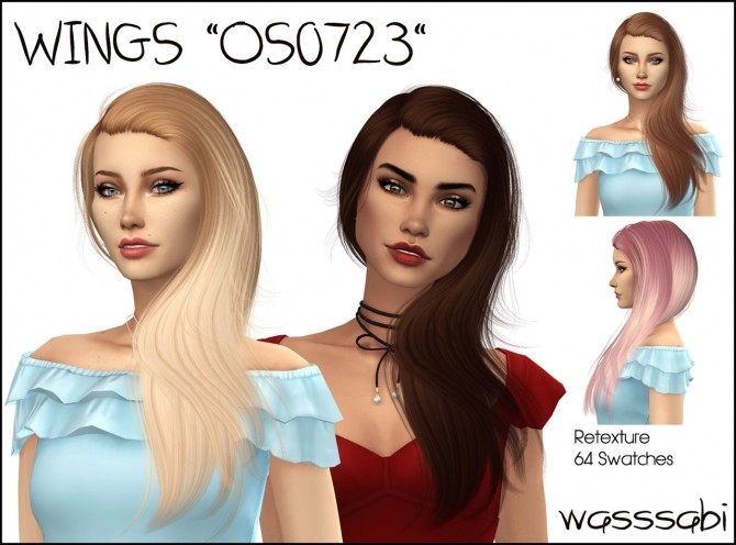 Sims 4 Wingssims OS0723 hair retexture at Wasssabi Sims