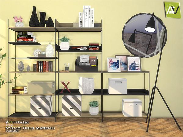 Sims 4 Myrasol Office Materials by ArtVitalex at TSR