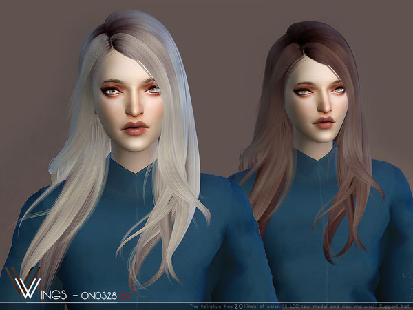 Sims 4 WINGS ON0726 hair by wingssims at TSR