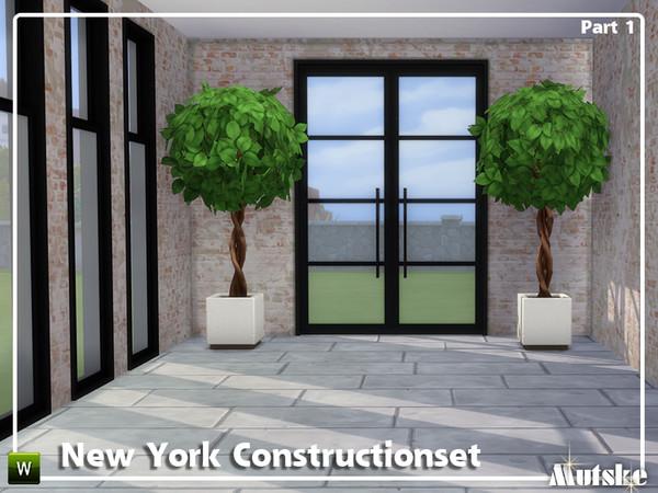 Sims 4 New York Construction set Part 1 by mutske at TSR