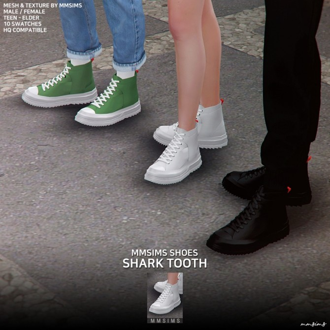 Shark tooth Sneakers at MMSIMS image 2564 670x670 Sims 4 Updates