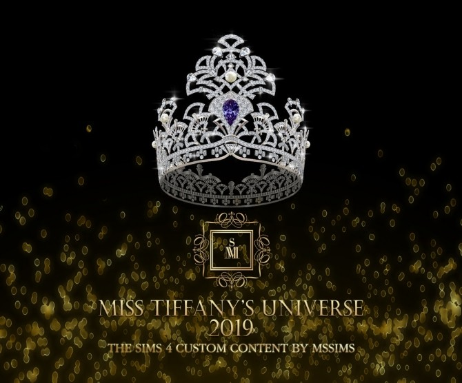 MISS TIFFANY'S UNIVERSE 2019 CROWN (P) at MSSIMS » Sims 4