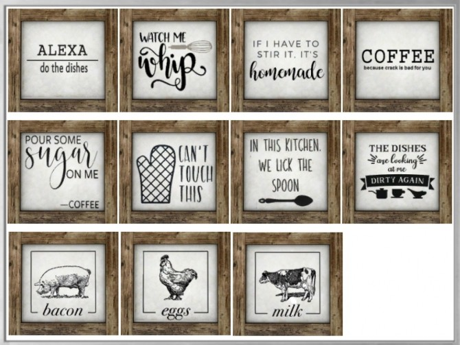 Sims 4 Mini Rustic Table Signs at Simthing New