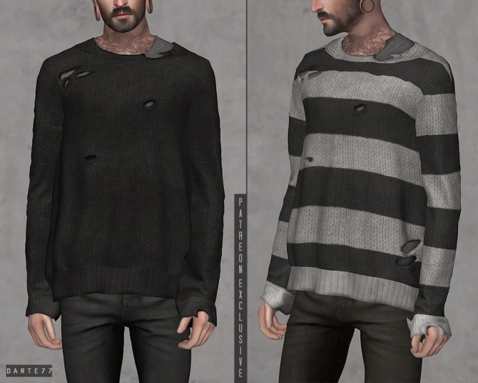 Ripped Knit Sweater at Darte77 image 2664 670x536 Sims 4 Updates